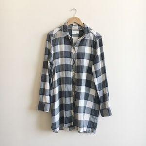 Aritzia Wilfred Free Flannel Shirt Dress